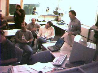 Webcam : centre de controle de mission du JPL